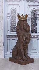 XXL Parkskulptur Löwe Antik Löwenstatue Gartenskulptur Gartenfigur Löwenfigur