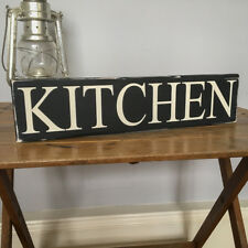 Kitchen Hand Painted Shabby Chic Wood Sign 40cm Retro Home Old Style Handmade