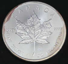 2015 1oz CANADIENSE DE PLATA Hoja de arce MONEDA 9999 AG ( Tono)