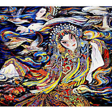 Wooden Jigsaw Puzzles 500 PCS Drunken Beauty Chinese Opera Painting Home Decor