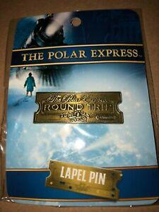 The Polar Express Round Trip Ticket LAPEL PIN Christmas Brass