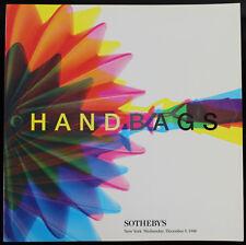Sotheby's Auction Catalog: Handbags, December 1998