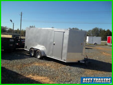 2020 7 x 16 cargo silver New enclosed cargo motorcycle trailer deluxe 7x16