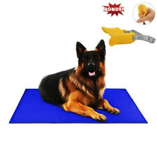 "Free Paws Pet Cooling Pad Gel Mat Cooler For Dog Crate Bed Kennel 30""x40"", Blue"