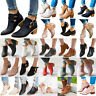 Women's Ladies Low Mid Block Heel Ankle Boots Chelsea Chunky Booties Shoes Size