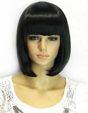 Kalyss Womens Bob Short wig Black Color Heat Resist Cospaly party Hair Highqualy