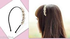 ★★★ NEU Toller Haarreif mit weißen Perlen Blumenmädchen Hochzeit Taufe★★★H7