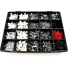 1250 PIECE ASSORTED WIRE CABLE CLIP SATELLITE TV PHONE LEAD FIXING TERMINAL KIT