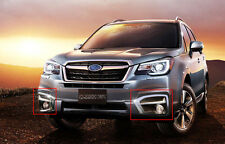 ABS Chrome Front Fog Light Lamp Cover Trim Fit for Subaru Forester 2016-2018
