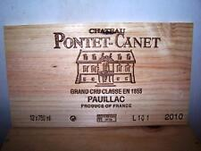 Façade estampe chateau PONTET CANET 2010 wood wine crate front panel ohk owc cbo