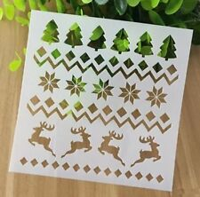 X'mas Deers Elk Pattern Layering Stencil Template DIY Scrapbooking Home Decor