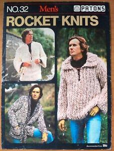 Patons Knitting Pattern, Mens Rocket Knits - Book No 32