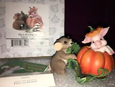 "Charming Tails ""Pig A Boo I See You"" Dean Griff Nib Halloween"