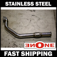 "86-92 Toyota MK3 Supra 7MGTE 3"" SS Stainless Steel Turbo Back Downpipe With Flex"