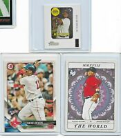 Lot of 3 2018 Boston Red Sox Rafael Devers Rookie Baseball Cards RC SP