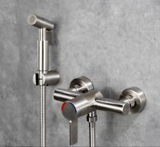 Toilet Handheld Shattaf Bidet Shower Spray Thermostatic Faucet Valve Set SUS304