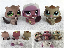 Littlest Pet shop LOT 3 CASTORS BEAVER #1108 #1192 #1410 Around The World LPS