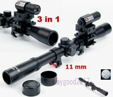 Cambo Tactical Air Rifle 4x20 Optic Scope W/ Red Dot Laser Sight for Rail Mount