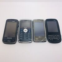 Cell Phone Lot of 4 Phones Samsung LG Verizon and Palm Phones Untested For Parts
