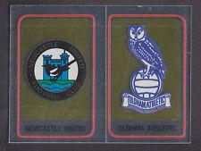 Panini - Football 84 - # 420 Newcastle / Oldham Foil Badge