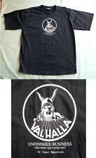 VALHALLA 30 Year Reunion 2XL Mens Black T Shirt 1970's Brisbane music rock band