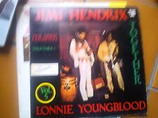 "LP 12"" JIMY HENDRIX & LONNIE YOUNGBLOOD TOGETHER COVER EX VINYL EX++ ITALY 1973"