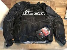 Icon Contra Motorcycle Textile Jacket - 2X-Large/Black - New with Tags