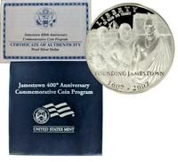2007-P Jamestown 400th Anniversary Commemorative Silver Dollar Proof