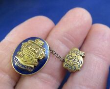 "Class Pins ""1945"" Washington Chevaliers Gold Tone w Blue Enamel (773)"