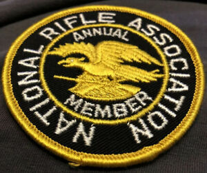"""VINTAGE NRA NATIONAL RIFLE ASSOCIATION EMBROIDERED PATCH 3"""" Round."""
