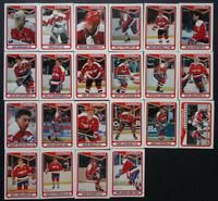 1990-91 O-Pee-Chee Washington Capitals Team Set of 22 Hockey Cards