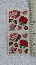 Sandylion VALENTINE CANDY HEARTS FLOWERS Strip of 2 Sqs RETIRED Stickers