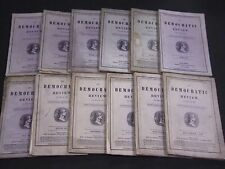 1847 THE DEMOCRATIC REVIEW LOT OF 12 COMPLETE YEAR - NICE ENGRAVINGS - WR 60A