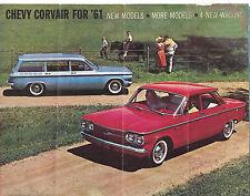 "1961 Chevrolet Original ""Chevy Corvair for '61"" Color Sales Brochure 9.25"" X 7"""
