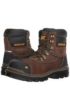 """Caterpillar Adhesion Ice+ 6"""" WP TX CT  Boots Size 8.5 Leather Oak Boots #P90986"""