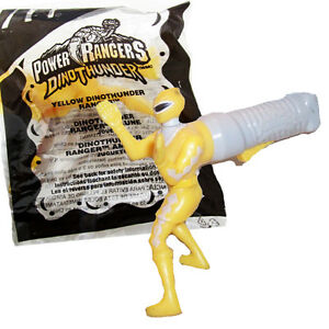 2003 Power Rangers Yellow DinoThunder McDonalds Happy Meal Toy #7 Action Figure