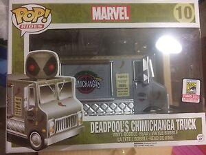 Funko pop vinyl figure #10 Sdcc Deadpool Chimichanga Exclusive Bnib Marvel Vehic