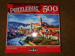 Puzzlebug Puzzle - Red Tile Roofs And Towers - 500 Pieces - Complete Brand New