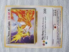 ARTICUNO< MOLTRES,and ZAPDOS Jumbo  Pokemon Carte  NEUVE  200 PV