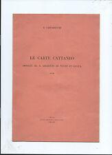 Opuscolo Le Carte Cattaneo Donate Archivio di Stato di Lucca Eugenio Lazzareschi