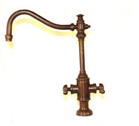 Waterstone 8020 Annapolis Two Handle Kitchen Faucet Bronze Finish Single Hole