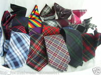 """Any  Mens TARTAN Ties - Necktie 3.5"""" = 9cm Width-With OR Without Matching Hankie"""