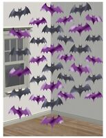 Bat | Halloween | Black | Purple | Party Hanging String Decorations 1-30pk
