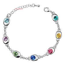 Bracciale Da Donna Cristallo SwarovskiI elements Pavone Multicolore B37