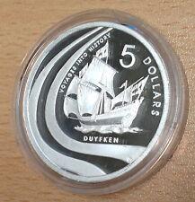 Australia 2002 plata prueba 1 OZ (approx. 28.35 g) $5 viajes a la historia-Duyfken