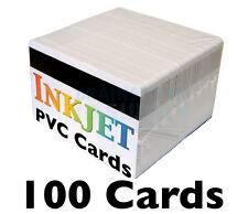 100 Inkjet PVC Cards w/ HiCo Mag Stripes - For Epson & Canon Inkjet Printers