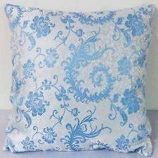 Sofa CUSHION COVER Chinese Brocade Pillow Case Light Blue Phoenix Tail cbs 35