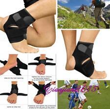 Adjustable Black Ankle Foot Support Elastic Brace Guard Football Hiking 1pc J