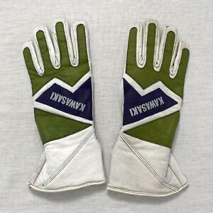 Vintage KAWASAKI leather gloves