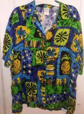 sz 22w Womens Hawaiian Shirt Tropical Plants print  made in USA